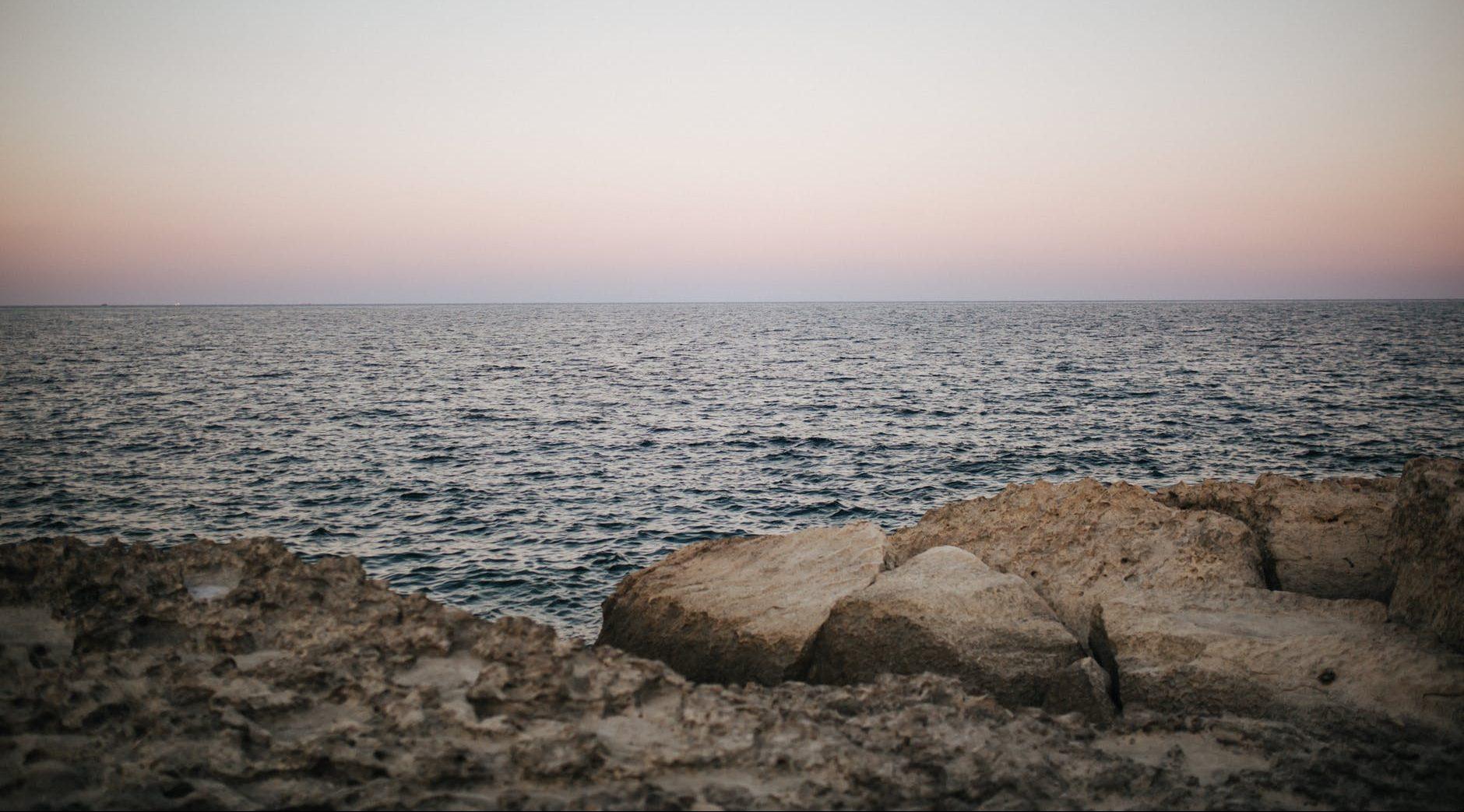 a scenic twilight and seascape